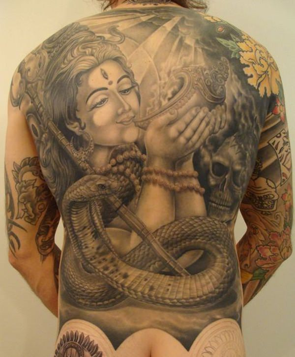 Goddess Spine Tattoo: 33 Iconic Hindu Tattoos That Will Inspire You