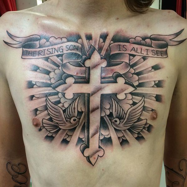 Cross With Clouds Tattoo: 90 Cross Tattoos For The Religious And Not So Religious