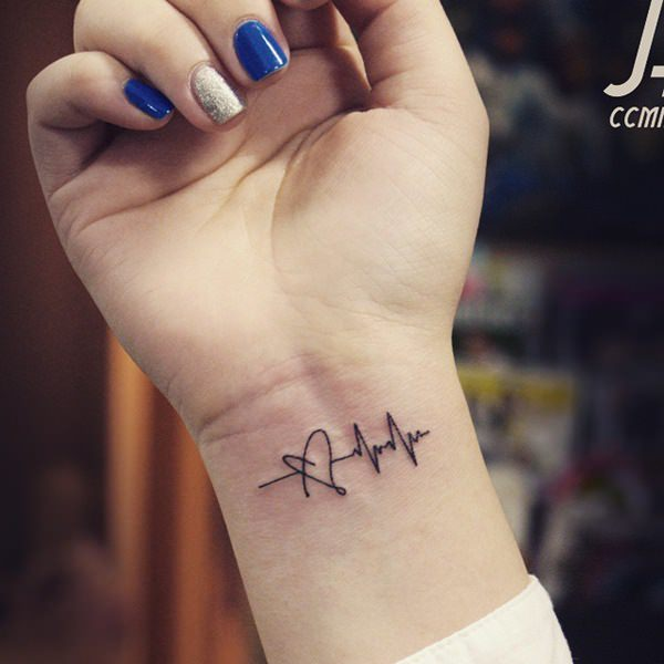 55 memorable and intriguing heartbeat tattoo ideas for Your name is tattooed on my heart