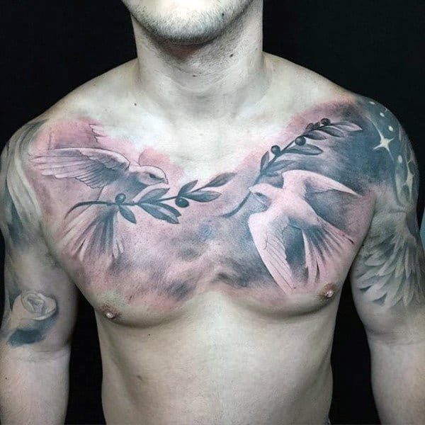 65 stunning dove tattoos that will bring a smile to your face. Black Bedroom Furniture Sets. Home Design Ideas