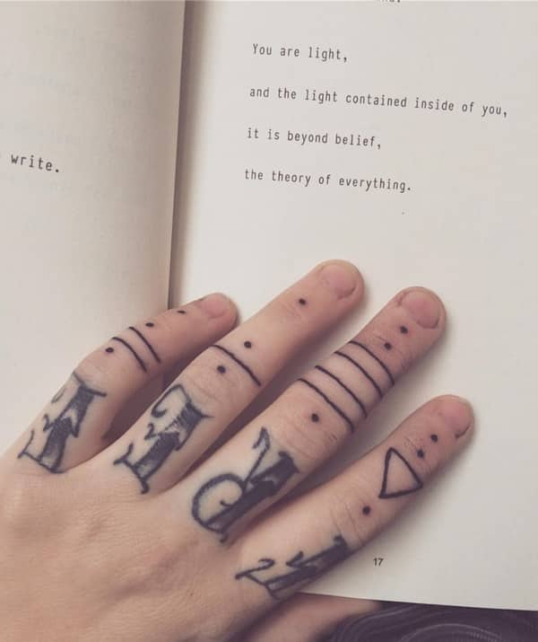 Passionate Anxiety Tattoo For Women: 88 Badass Knuckle Tattoos That Look Powerful