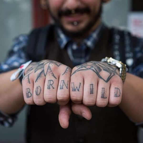 88 Badass Knuckle Tattoos That Look Powerful