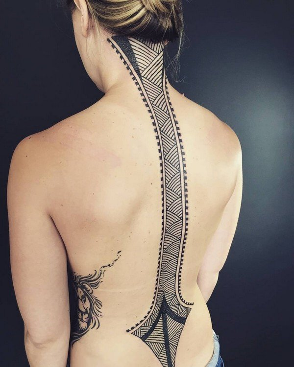 47 sexy and alluring spine tattoos for 2017