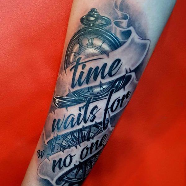 110 Cool Pocket Watch Tattoos That Are Totally Badass