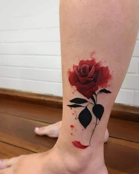 Rose tattoos for women ideas and designs for girls for Rose petal tattoo