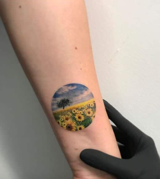 sunflower-tattoos-10