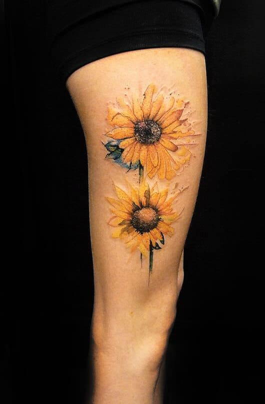 sunflower-tattoos-29