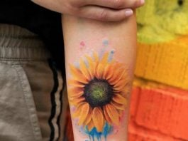 sunflower-tattoos-for-women